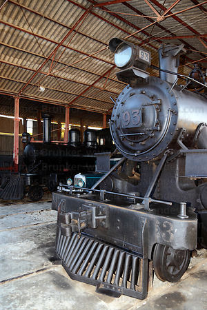 Historic Alco 2-8-0 #93 steam engine in National Railway Museum of Peru , Tacna