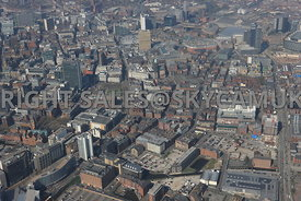 Manchester Piccadilly Gardens and the Northern Quarter of Manchester