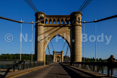 FRANCE, VALLEE DE LA LOIRE, PONT DE LANGEAIS//France, Indre Et Loire, Loire Valley, Bridge Of Langeais
