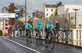 Group of Cyclists from Team Astana - Paris-Nice 2018