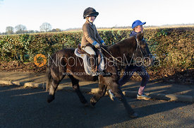 Jasmine Speed, Marcus Speed leaving the meet - The Cottesmore Hunt at Pickwell Manor 28/12
