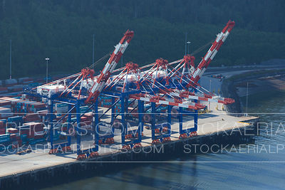 Cranes at the Fairview Container Terminal, Prince Rupert