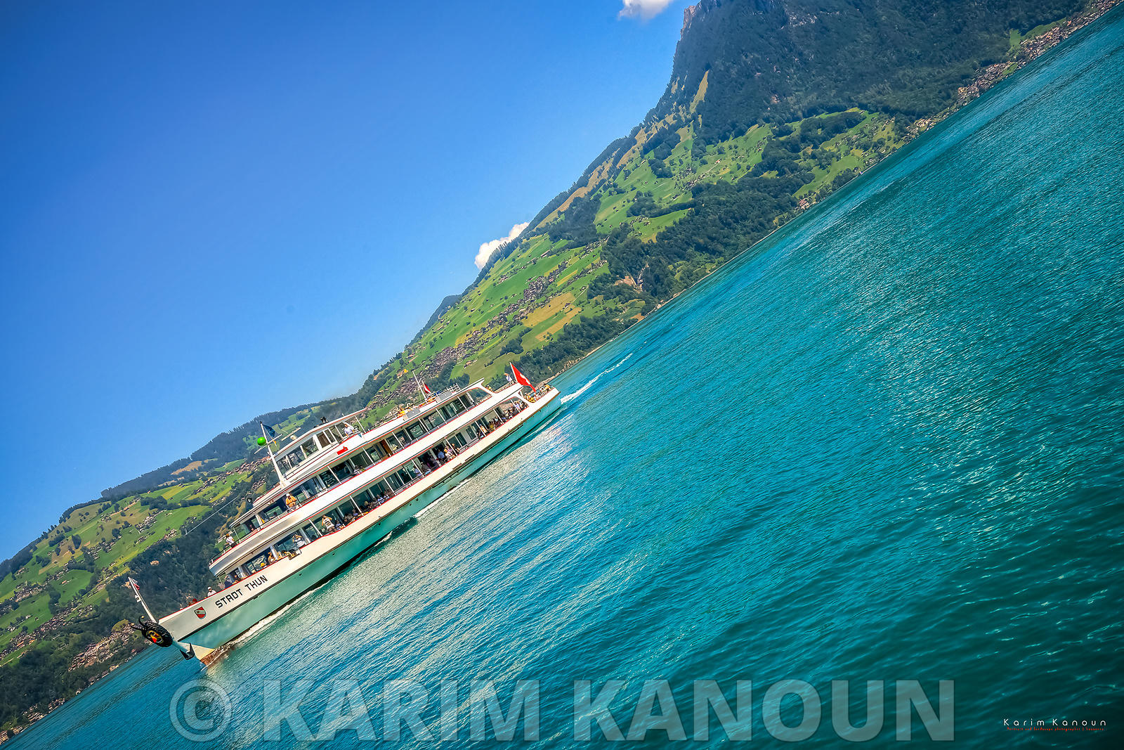 Interlaken lake Thun boats - Bern