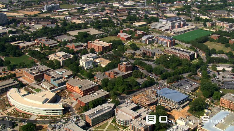 Flying over Georgia Tech campus in Atlanta.