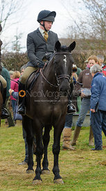 Followers at the meet - The Cottesmore Hunt at Hill Top Farm 10/12/13