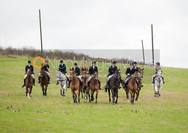 Members of the hunt at the meet