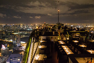 Vertigo bar view Bangkok Art Photographs