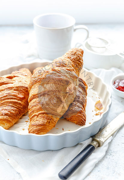 Croissants and Coffee for breakfast