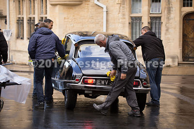 Citroen DS20 being prepped for a car chase scene in Transformers 5