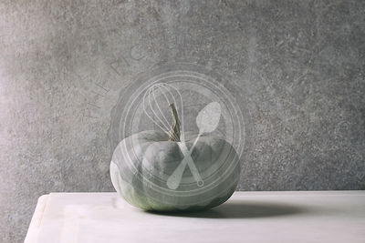 Grey big pumpkin
