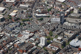 Preston aerial photograph of Friargate and St Georges Shopping centre and Market Street