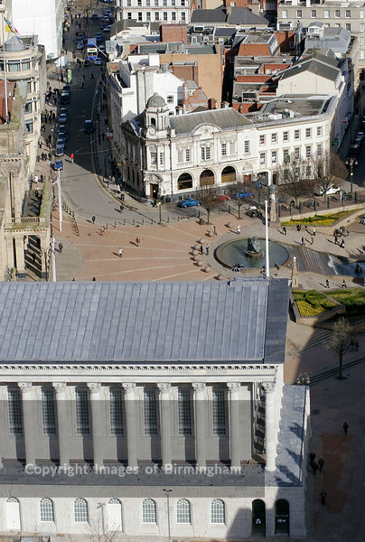 The Town Hall and Victoria Square, Birmingham City Centre, Uk
