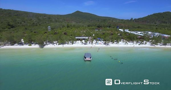 Snorkeling of a Beach Tropical Paradise of Koh Rong Cambodia
