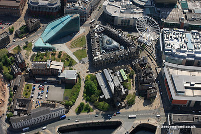 aerial view of Cathedral Gardens and the Hanging Ditch vicinity of Corporation Street, Manchester M4 3BG