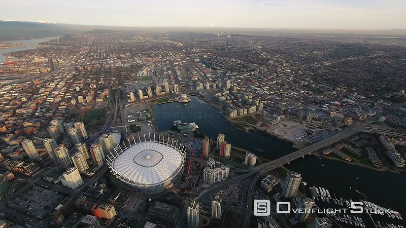 Central Downtown Vancouver and BC Place Stadium