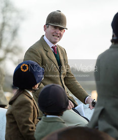 Tim Hercock at the meet - The Cottesmore Hunt at the kennels 21/10