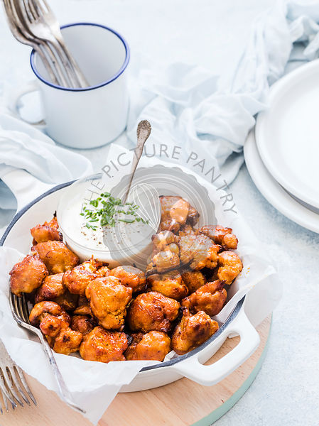 Baked Cauliflower Wings with Sauce