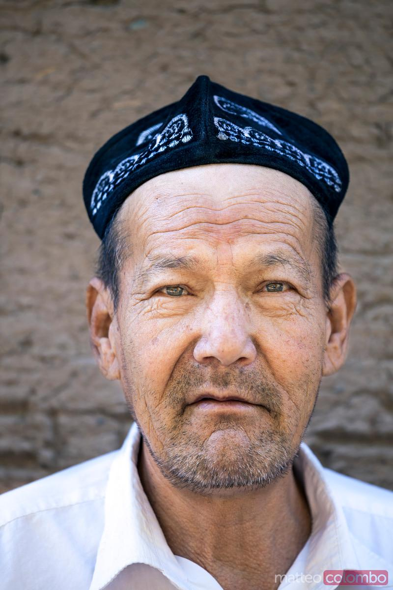 Portrait of old uyghur man, Xinjiang, China