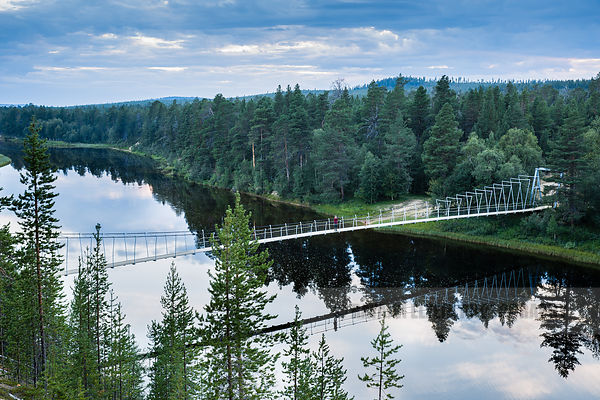 Bridge over the Lutto River in Finnish Lapland