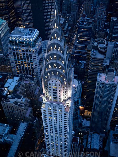 Aerial photograph of the Chrysler Building