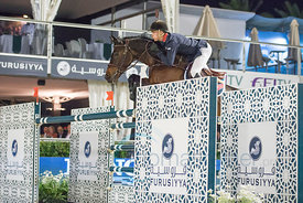 William Whitaker (GBR) riding Upperclass at the CSIO Barcelona on 10.10.2014, Longines Cup of the City of Barcelona, Club Real de Polo, Barcelona, Spain