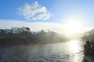 Early morning mist, River Teifi