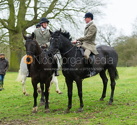 AS at the meet - The Belvoir Hunt at Croxton Park 23/2