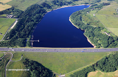 Scammonden Reservoir from the air
