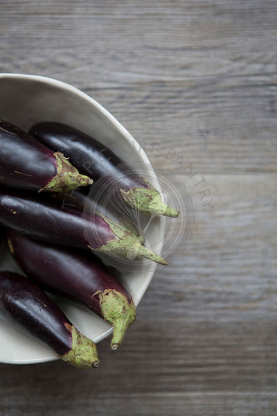 Still Life Aubergine in a Bowl