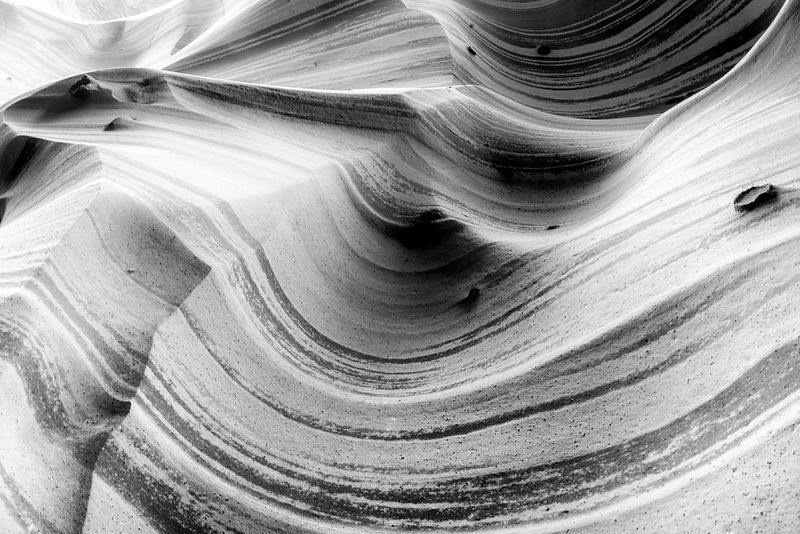 Zebra Slot Canyon B+W