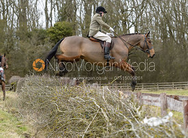 Harry Arkwright jumping a hedge at Orton Park