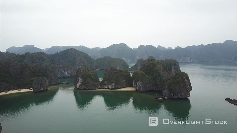 Drone Video Ha Long Bay Unesco World Heritage Site Vietnam