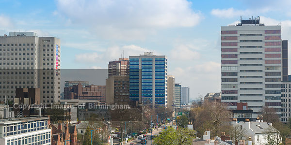View of the Hagley Road looking toward Birmingham city centre.