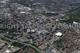 Bolton aerial photograph looking across the junction of Folds Road and St Peters Way in towards Bolton town centre
