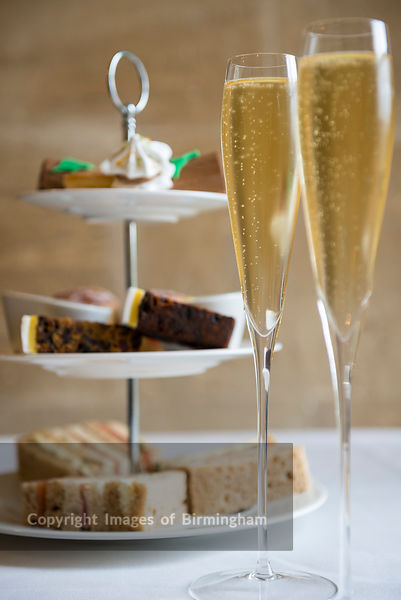 Champagne and afternoon tea and cakes