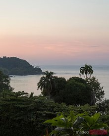 Sunset over Drake bay, Osa peninsula, Costa Rica