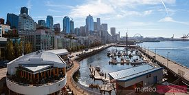 Waterfront and downtown district, Seattle, USA