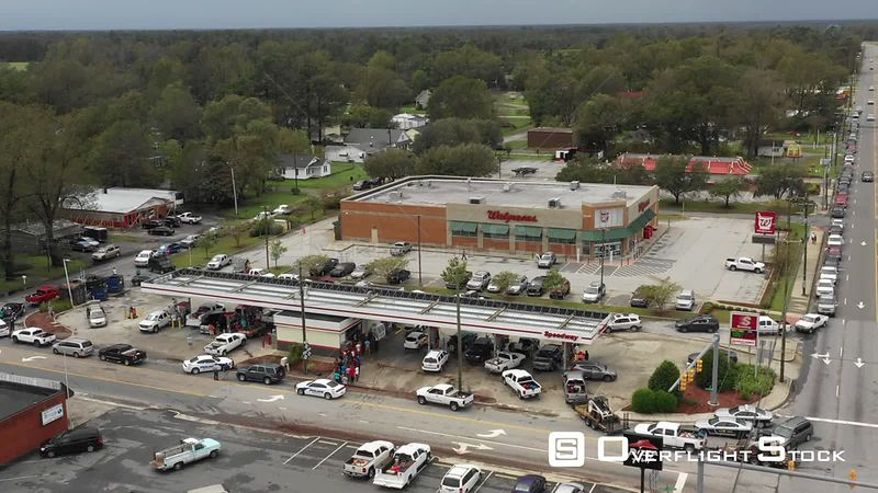 Gas Station Lineups Storm Aftermath of Hurricane Florence in North Carolina