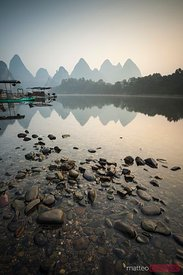 Sunrise over Li river, China