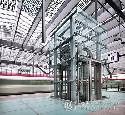 Glass Lift - Rotterdam Central