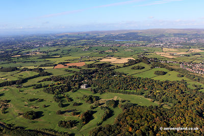 aerial photograph of Haigh Hall Country Park Wigan, Lancashire WN2 1PE