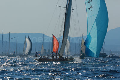 Sailing boats in St Tropez bay
