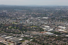 Birmingham aerial photograph of the Nechells area of Birmingham