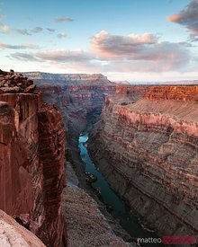 Last light over Colorado river, Grand Canyon, USA