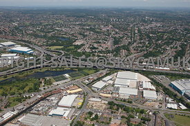 Birmingham aerial photograph of the Stargate Business Park  and Meteor Park Cuckoo Road Nechells