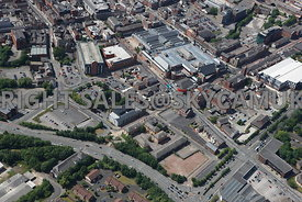 Bolton aerial photograph of the area of St George Street and All Saints street with the Market Place shopping centre