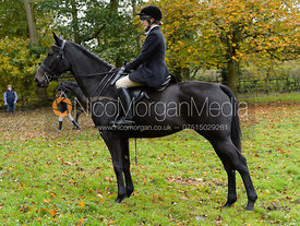 Hilary Butler at the meet - Cottesmore Hunt Opening Meet, 24/10/2017