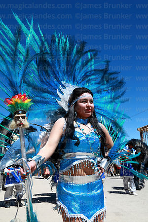 Beautiful female tobas dancer , Chutillos festival, Potosí, Bolivia