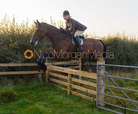 Emma Hyslop -The Cottesmore Hunt at America Lodge Crossroads 23/9