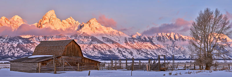 Mormon Row Winter Sunrise